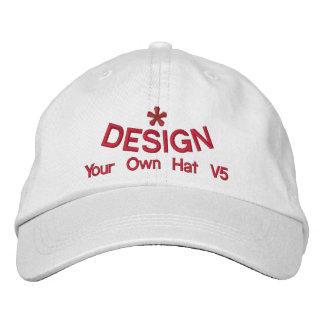 DIY Design Your Own Hat V5 RED Thread