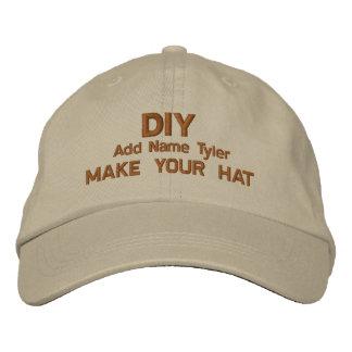 DIY Design Your Own Khaki  Custom Gift H020 Cap