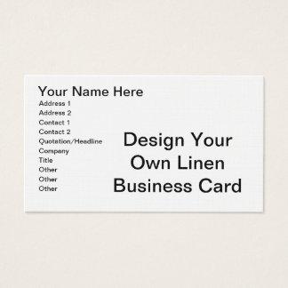 DIY - Design Your Own Linen Business Card