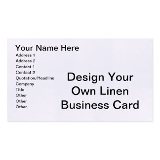DIY - Design Your Own Linen Business Cards