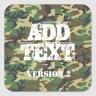 DIY Design Your Own Military Style Camouflage V3 Square Sticker
