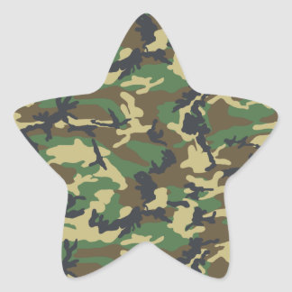 DIY Design Your Own Military Style Camouflage V3A Star Sticker