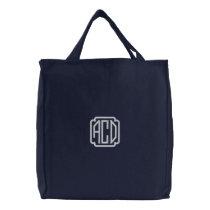 DIY Design Your Own Monogram Item C Embroidered Tote Bag