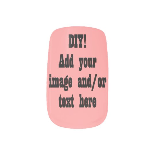 Diy Design Your Own Personal Nails Pink Minx Nail Wraps Zazzle