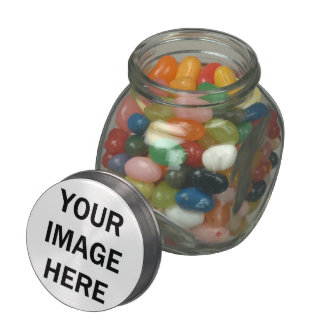 DIY Design Your Own  PHOTO Wedding Favor V6A Jelly Belly Candy Jar