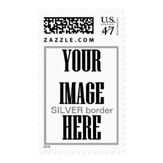 DIY Design Your Own Photo Wedding Stamp SILVER