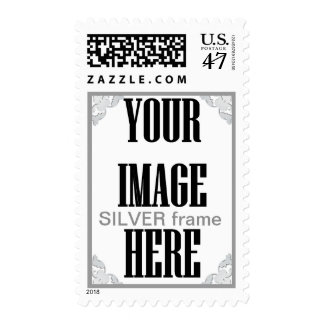 DIY Design Your Own Photo Wedding Stamp SILVER 3