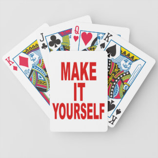 DIY Design Your Own Poker Party Bicycle Playing Cards