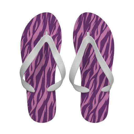 DIY Design Your Own Purple and Pink Zebra V15 Flip-Flops