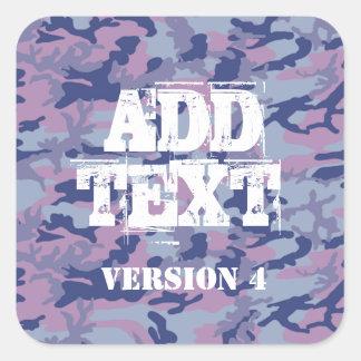 DIY Design Your Own Purple Camouflage V4 Square Sticker