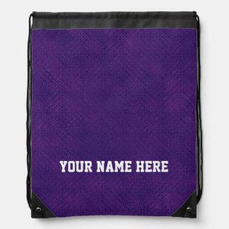 DIY Design Your Own Purple Dot Pattern Cinch Bag