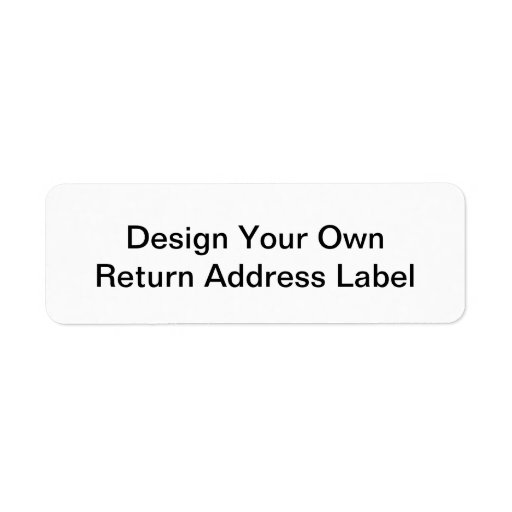 Diy design your own return address label zazzle for Be your own architect