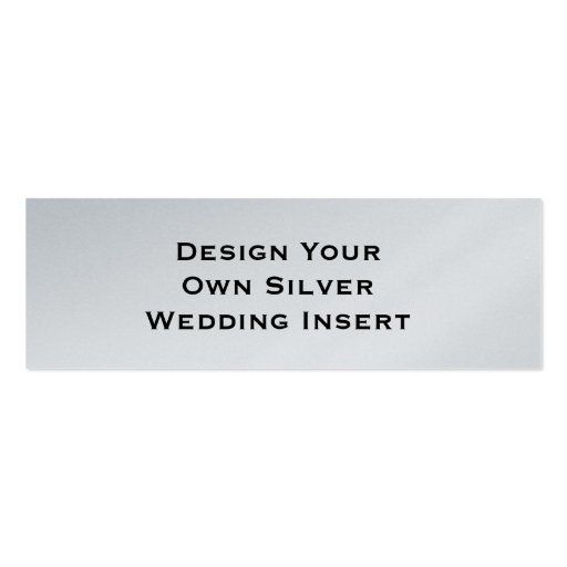 DIY Design Your Own Silver Double Sided Mini Business