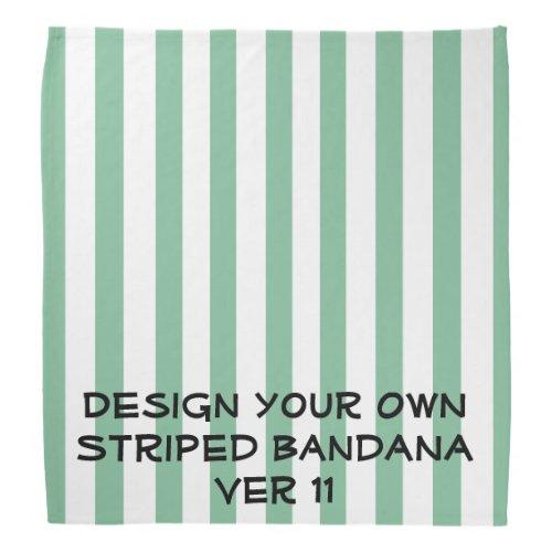 DIY Design Your Own STRIPED Bandana V011