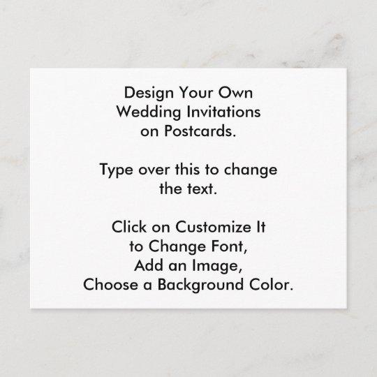 Make Your Own Wedding Invitations Ideas: DIY Design Your Own Wedding Invites On Postcards