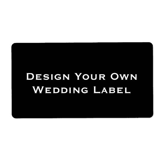 DIY - Design Your Own Wedding Label