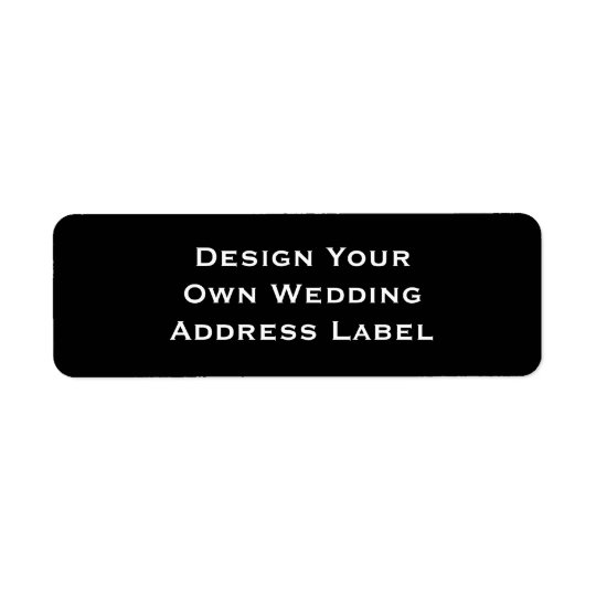 DIY - Design Your Own Wedding Label