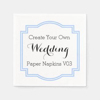 DIY Design Your Own Wedding Paper Napkins V04