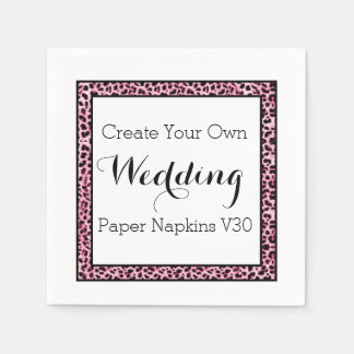 DIY Design Your Own Wedding Paper Napkins V30