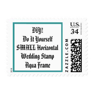 DIY Design Your Own Wedding Stamp Aqua Frame V25