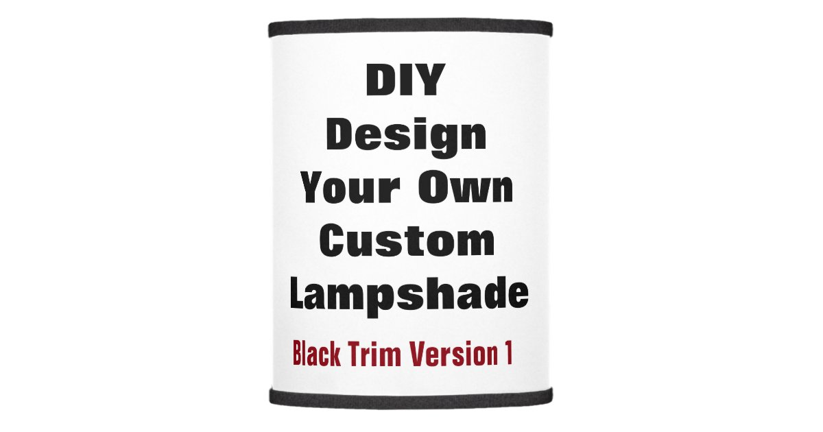 Diy design your own with photo and or text d02 lamp Make your own shade house