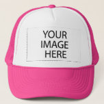 """DIY Design Your Own Zazzle Hat Gift Pink<br><div class=""""desc"""">Design your own Zazzle Trucker Hat Gift Item.  Add a photo,  and/or personalize with a name,  monogram,  or sentiment.  Make your own one-of-a-kind item!</div>"""