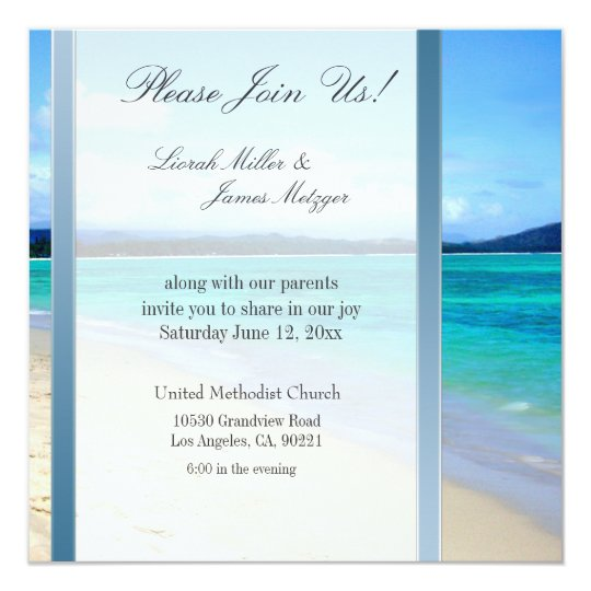 Diy Destination Beach Wedding Invitation Template Zazzle