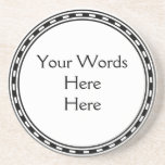 DIY Do It Yourself Easy Customized Text Wording Coaster
