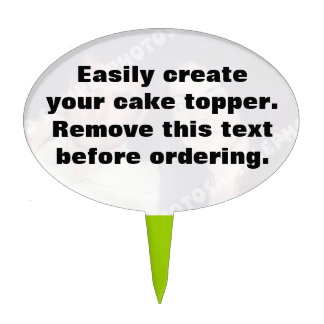 DIY Easily create your own oval cake topper