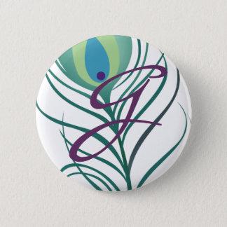 DIY Elegant Peacock Feather Pinback Button
