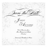 DIY Elegant Save the Date in Black and White Personalized Invitation