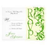 DIY Elegant Simple RSVP in Cream and Emerald Personalized Invite