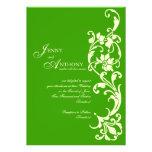 DIY Elegant Simplicity in Emerald and Cream Personalized Invite
