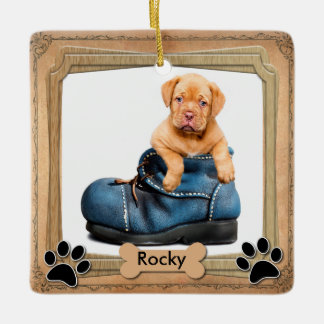DIY Family Pet Photo Ceramic Ornament
