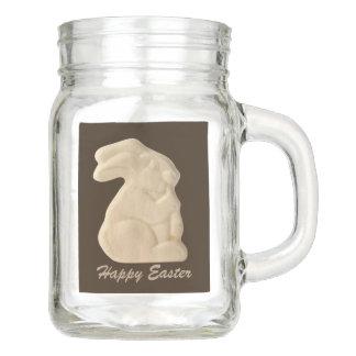DIY Faux choco Easter bunny Party favor jar