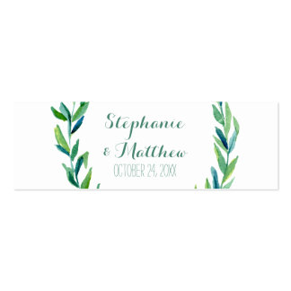 DIY Favor Tags Favor Gift Tags Laurel Olive Wreath Mini Business Card