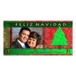 DIY Feliz Navidad Personalized Photo Card