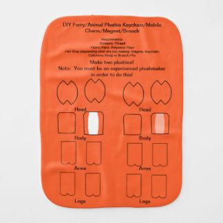 DIY Furry/Animal Plushie Keychain/Mobile Charm 2 Burp Cloth