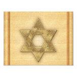 DIY Gold Star of David / Bar Mitzvah template 4.25x5.5 Paper Invitation Card