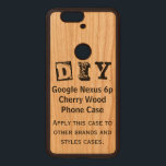 """DIY - Google Nexus 6p Cherry Wood Case<br><div class=""""desc"""">THIS IS A DURABLE AND STYLISH CASE. YOU CAN APPLY THE DESIGN TO OTHER NAME BRANDS AND STYLES ON MOST CASES. TO CUSTOMIZE: To change design, style or shape, click on &quot;CUSTOMIZE IT&quot;, after your are done with your design, select quantity then click on &quot;ADD TO CART&quot; to purchase. TO...</div>"""