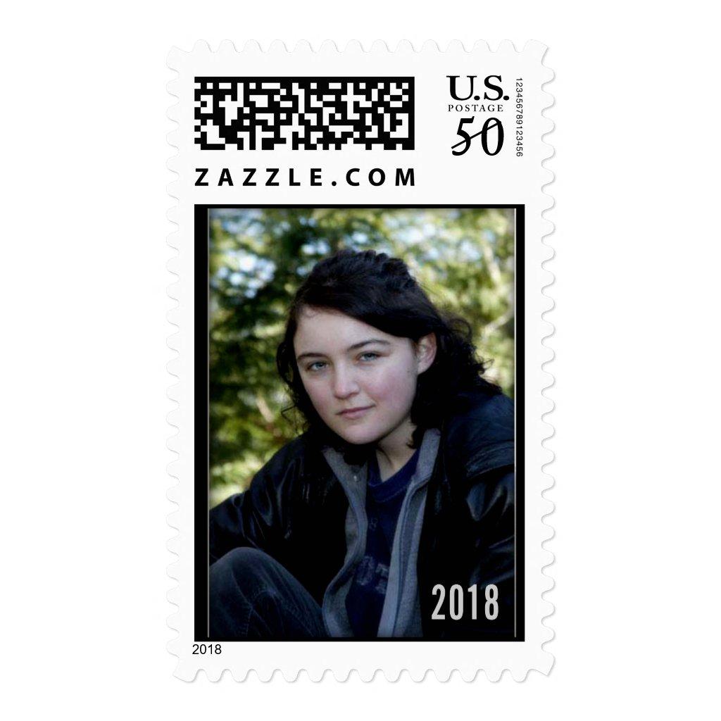 DIY Graduation Postage Stamp template