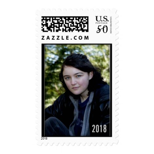 DIY Graduation Postage Stamp template