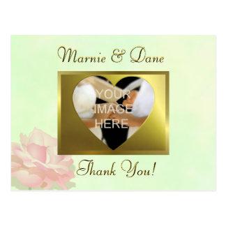 DIY Green Wedding Thank Your Card   Flower Set Post Cards