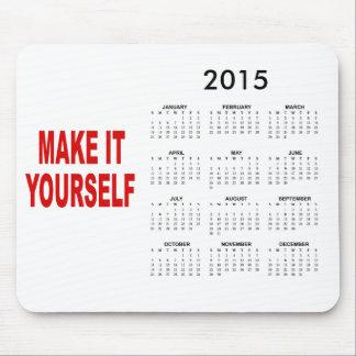 DIY hacen su propio calendario 2015 Tapete De Ratones