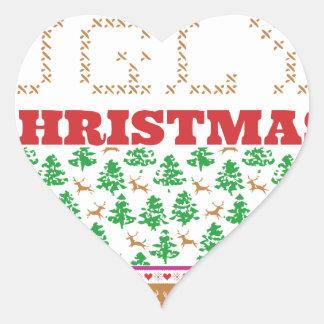 DIY - Hágalo usted mismo navidad feo - como el Pegatina En Forma De Corazón