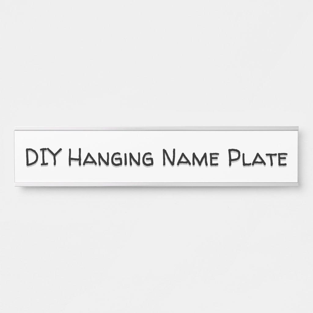 DIY Hanging Door Sign