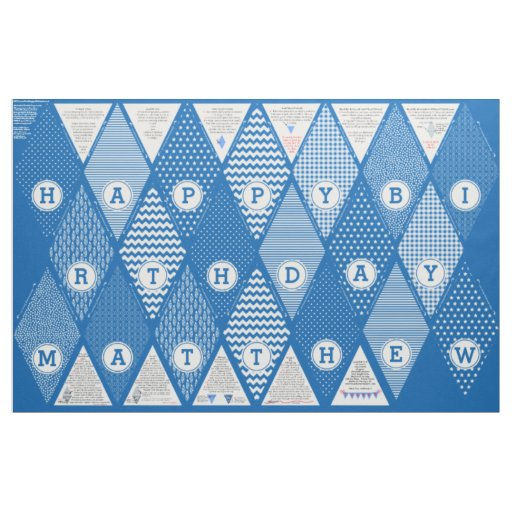 Diy Happy Birthday Personalized Pennant Banner Fabric