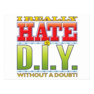 DIY Hate Face Postcard