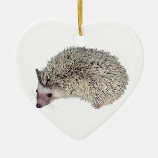 DIY Hedgehog left Ceramic Ornament