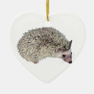 DIY Hedgehog right Ceramic Ornament